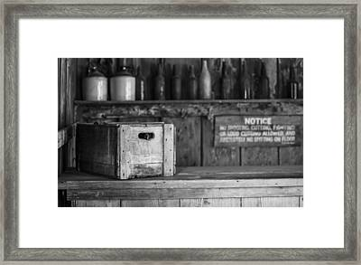 Old West Saloon Framed Print by Amber Kresge
