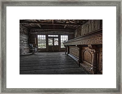 Old West Saloon Bar -- Bannack Ghost Town Montana Framed Print by Daniel Hagerman