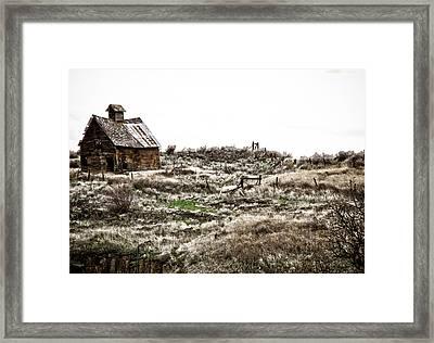 Old West School  Framed Print by Steve McKinzie