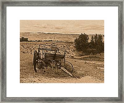 Old West Wagon Framed Print by Leland D Howard