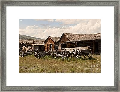 Old West Wyoming  Framed Print by Juli Scalzi