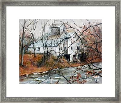 Old Wf Mill Framed Print by Linda Hall