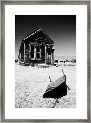 Old Wheelbarrow Framed Print by Cat Connor