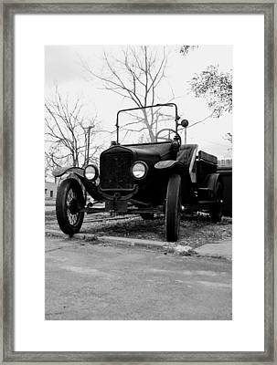 Old Wheels Framed Print by Off The Beaten Path Photography - Andrew Alexander