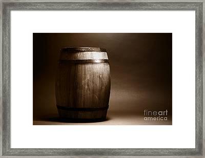 Old Whisky Barrel Framed Print by Olivier Le Queinec