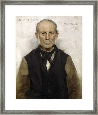 Old Willie - The Village Worthy, 1886 Framed Print by Sir James Guthrie