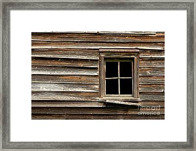 Old Window And Clapboard Framed Print by Olivier Le Queinec
