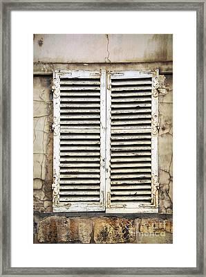 Old Window Framed Print by Elena Elisseeva