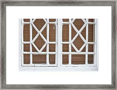 Old Window Frame Framed Print by Tom Gowanlock