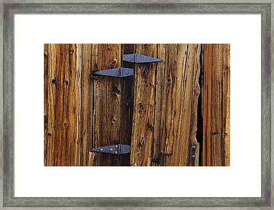 Old Wood Barn Framed Print by Garry Gay