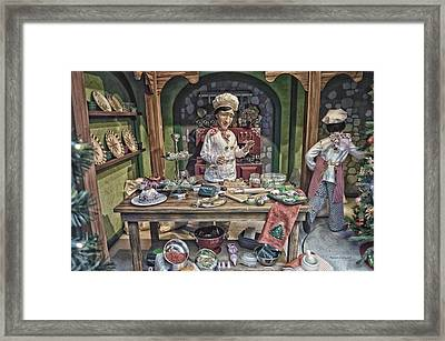 Old World Christmas Chef Hdr Framed Print by Thomas Woolworth