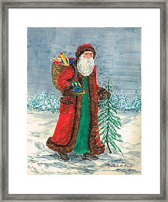 Old World Father Christmas 5 Framed Print by Barbel Amos