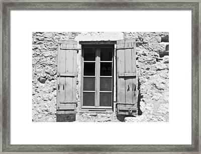 Old Worn Window Framed Print by Georgia Fowler
