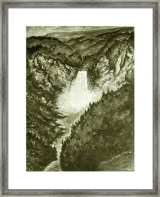Yellowstone Falls - Fine Art Framed Print by Art America Online Gallery