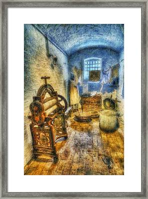 Olde Victorian Washroom Framed Print by Ian Mitchell