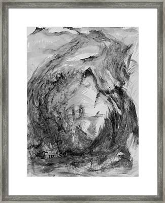 Ole Toothy Wings Framed Print by Christophe Ennis