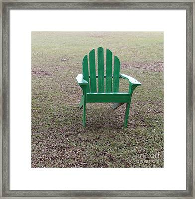 Ole Weathered Chair Framed Print by Joseph Baril