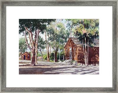 Olivenhain Meeting House Framed Print by Mary Helmreich