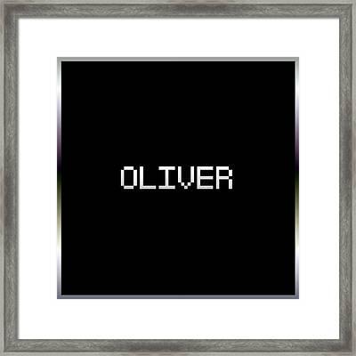 Oliver.1.2 Framed Print by Gareth Lewis
