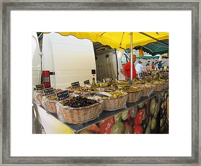 Olives For Sale Framed Print by Pema Hou