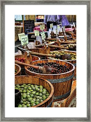 Olives Framed Print by Heather Applegate