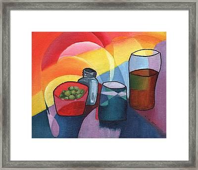 Olives Salt N Beer Framed Print by William Killen
