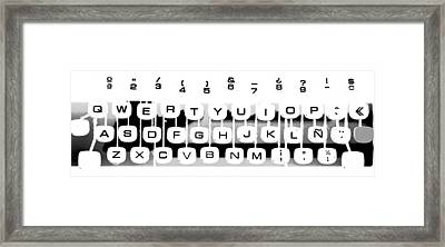 Olivetti Keyboard Buttons Framed Print by Gina Dsgn