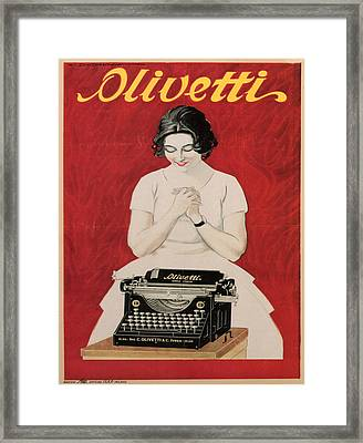 Olivetti Framed Print by Georgia Fowler