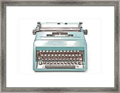 Olivetti Typewriter 1 Framed Print by Pittsburgh Photo Company