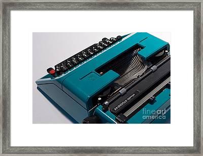 Olivetti Typewriter 11 Framed Print by Pittsburgh Photo Company
