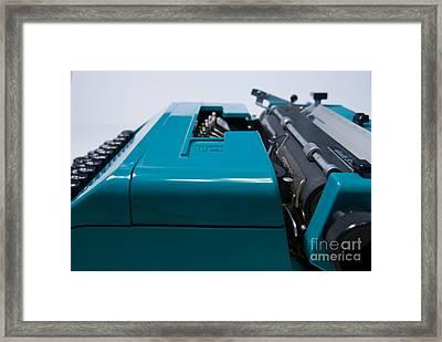 Olivetti Typewriter 12 Framed Print by Pittsburgh Photo Company