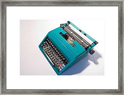 Olivetti Typewriter 7 Framed Print by Pittsburgh Photo Company