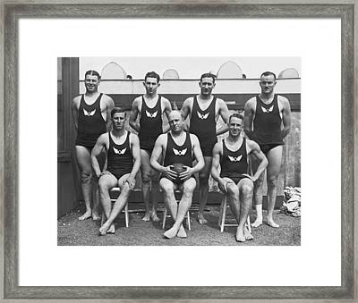 Olympic Club Water Polo Team Framed Print by Underwood Archives