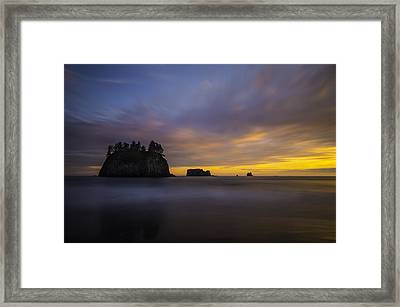 Olympic Coast Sunset Framed Print by Larry Marshall