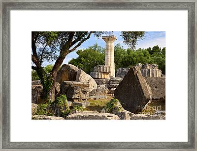 Olympus Ruins Framed Print by Brian Jannsen