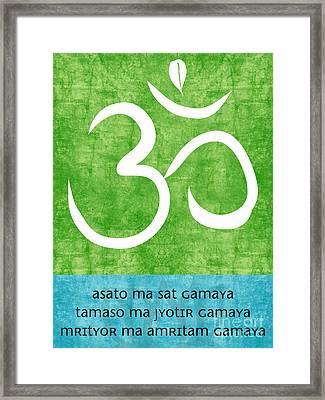 Om Asato Ma Sadgamaya Framed Print by Linda Woods