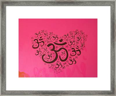 OM Framed Print by Pato Aguilar and Holly Anderson