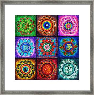 Om Squared Framed Print by Tim Gainey