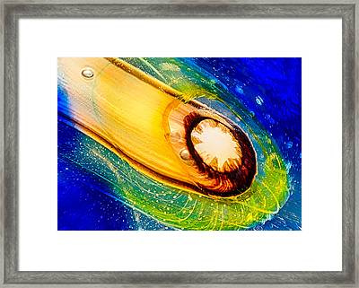 Omaste's Comet Framed Print by Omaste Witkowski