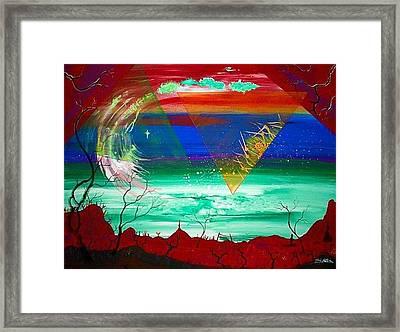 Omega Wave  Rendition Framed Print by Jody Poehl