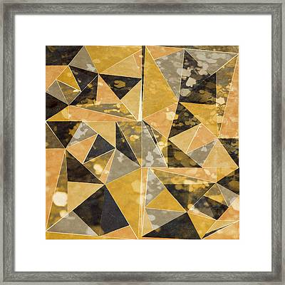 Omg Gold Triangles I Framed Print by South Social Studio