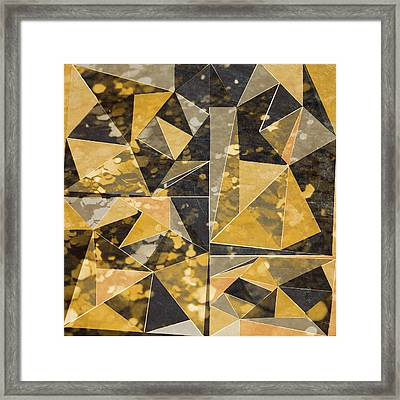 Omg Modern Triangles II Framed Print by south Social Studio