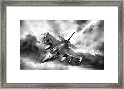 Ominous Falcon Framed Print by Peter Chilelli