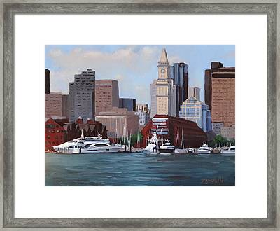 On A Clear Day Framed Print by Laura Lee Zanghetti