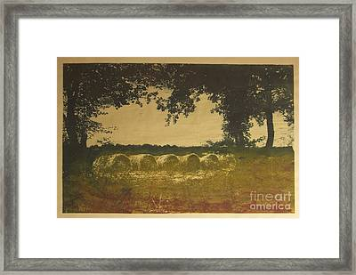 On A Farm In France Framed Print by Deborah Talbot - Kostisin
