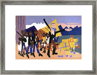 On A John Brown Flight Framed Print by Pg Reproductions