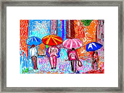 On A Rainy Day Framed Print by Anand Swaroop Manchiraju
