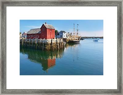 On Bradley Wharf Framed Print by Nikolyn McDonald