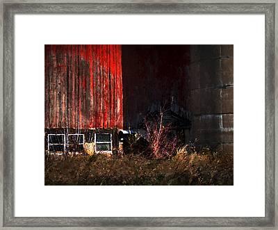 On Casey Lake Rd. Framed Print by David Blank