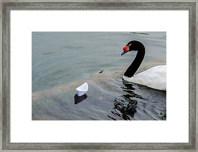 On Converging Course - Featured 3 Framed Print by Alexander Senin